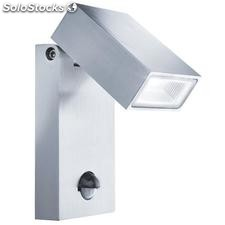 Aplique de pared exterior acero inox Pointer LED 10W 5000K IP44 sensor mov