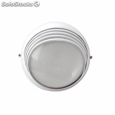 Aplique de pared exterior blanco Hepta E27 100W IP44