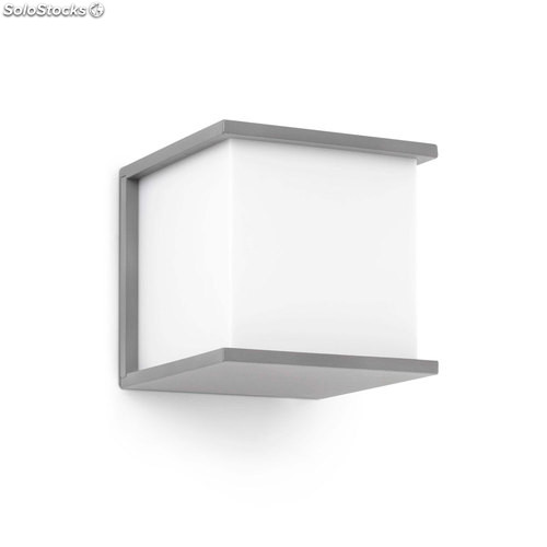 Aplique de pared exterior gris Kubick E27 60W IP44