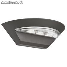 Aplique de pared exterior gris oscuro Bridge LED 6W 5000K IP44