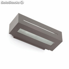 Aplique de pared exterior gris oscuro West E27 100W IP54