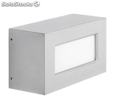 Aplique de pared exterior gris Rectangle LED 13W 3000K 1190Lm IP65