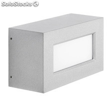 Aplique de pared exterior gris Rectangle LED 13W 3000K 1210Lm IP65