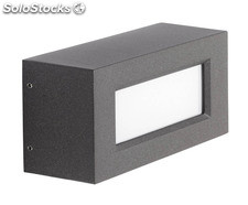 Aplique de pared exterior gris Rectangle LED 8,7W 3000K 800Lm IP65