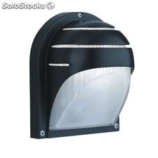 Aplique de pared exterior negro Alu E27 60W IP44