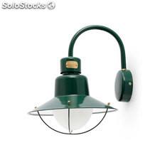 Aplique de pared exterior verde Newport E27 60W IP44