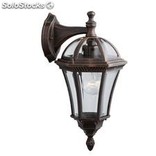 Aplique de pared farol exterior marrón rústico Capri E27 60W IP44