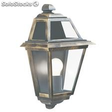 Aplique de pared farol exterior oro negro New Orleans E27 60W IP44