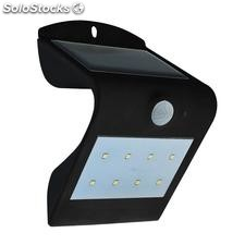 Aplique de pared led solar peel, negro, Blanco frío