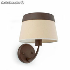 Aplique de pared marrón / beige Sac E27 60W