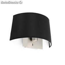 Aplique de pared negro Volta E27 20W