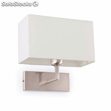 Aplique de pared níquel mate / blanco Roda E27 60W