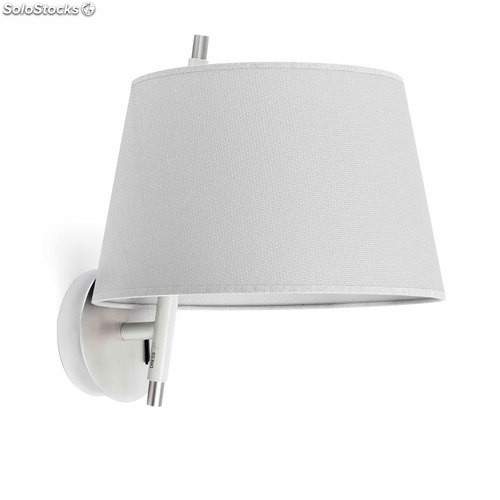 Aplique de pared níquel satinado Tango E14 9W 2700K
