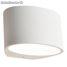 Aplique de pared ovalado blanco Gypsum G9 40W