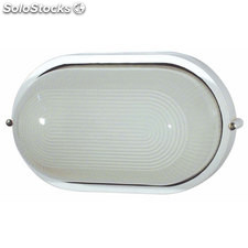Aplique de pared ovalado exterior blanco Derby E27 60W IP44