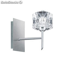Aplique de pared plata satinado Ice Cube G9 33W 3000K