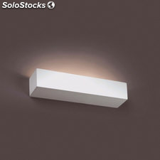 Aplique de pared rectangular blanco Eaco 2 x G9 40W