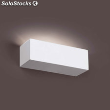 Aplique de pared rectangular blanco Eaco G9 40W