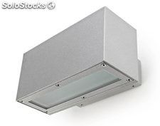 Aplique de pared rectangular exterior gris Linea 2 x LED 8,4W 3000K 700Lm IP65
