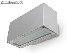 Aplique de pared rectangular exterior gris Linea LED 8,4W 3000K 700Lm IP65