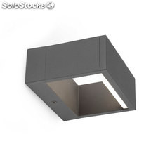 Aplique de pared rectangular exterior gris oscuro Alp LED SMD 6W 3000K 190Lm