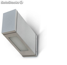 Aplique de pared rectangular exterior gris Uncas LED 13W 3000K 1190Lm IP65