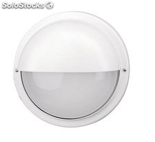 Aplique de pared redondo exterior blanco Elba E27 100W IP55