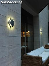 Aplique pared cuadrado exterior gris Giorgio 4 x LED 3W 4100K 418Lm IP54