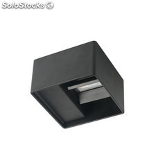 Aplique pared Lek negro exterior/interior 6,5w 3000K 285l