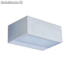 Aplique pared rectangular gris Iona LED 13W 3000K 1200Lm IP44