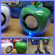 Apple mini altavoz portatil FM para iPhone iPod iPad usb microSD MP3 MP4 Green
