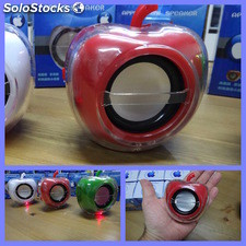 Apple mini altavoz portatil FM para iPhone iPod iPad usb microSD MP3 MP4 Red