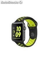 Apple Watch Nike+, correa Nike Sport negra/voltio, 42 mm