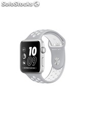 Apple Watch Nike+, correa Nike Sport plata/blanca deportiva, 42 mm