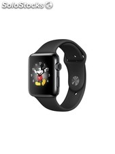 Apple Watch Series 2, caja de acero inoxidable negro espacial, 42 mm