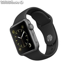 Apple Watch Sport 38mm Aluminio Gris Espacial Correa Negra