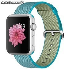 Apple Watch Sport 42mm Aluminio Plata Correa Nailon Trenzado Azul Tropical