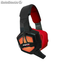 approx Auricular+Mic Gaming appGH10 Rojo/Negro