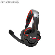 approx Auricular+Mic Gaming appGH9 Rojo/Negro