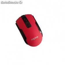 Approx - Wireless Optical Mouse Red RF inalámbrico Óptico 1600DPI Ambidextro