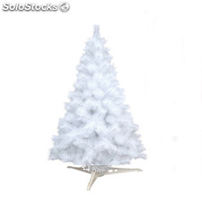 a4287256611 Árbol Navidad artificial decorado bolas luces LED 210 cm blanco