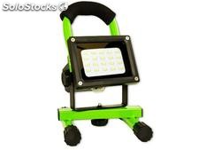 Arcas 8 Watt LED Flood Light rechargeable (Green)
