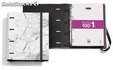 Archivador + Bloc Notebook Golden Collection Marble
