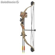 Arco de poleas compuesto de 25 lbs y 185 FPS Hellbow, color camuflaje ideal para