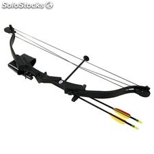 Arco de poleas compuesto de 25 lbs y 185 FPS Hellbow, color negro ideal para la