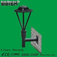 area Post Top Wall Mount en pared exterior LED 30w