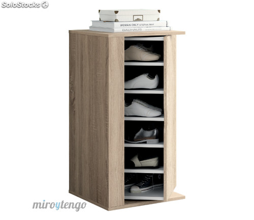 Armario zapatero multiusos color cambrian interior giratorio 270 mueble auxiliar