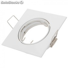 Aro Downlight Basculante Cuadrado Aluminio Color Blanco 83/83mm