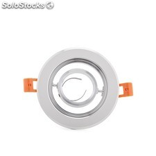 Aro downlight circular blanco 120mm