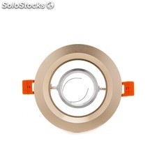Aro downlight circular dorado 120mm